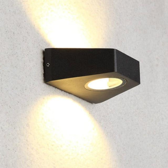 Led Outdoor Lamp Waterproof Wall Lights Garden Lighting Scone Porch 6w Black Grey Housing Ip54 Exterior Light 100 240v