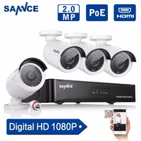 ANNKE 1080P 4CH NVR POE IP Network 2MP Outdoor Cameras Home Security System 1TB