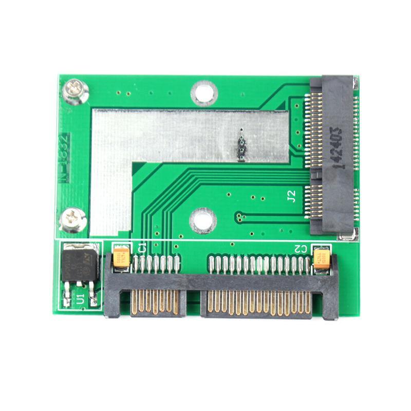 High Quality PCI-E Half Height mini mSATA SSD to 7mm 2.5 SATA 22pin Hard Sisk Drive #67542 low profile half height 50mm mini pci e msata ssd to 7mm 2 5 sata 22pin hard disk drive hdd pcba