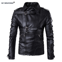High quality 2017 new style brand mens motorcycle retro jacket Men's casual clothing with PU fashion mens jackets plus size