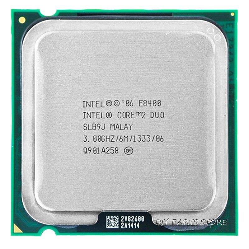 INTEL Core 2 Duo DUAL CORE E8400 CPU Processeur INTEL E8400 CPU (3.0 Ghz/6 M/1333 GHz) Prise 775