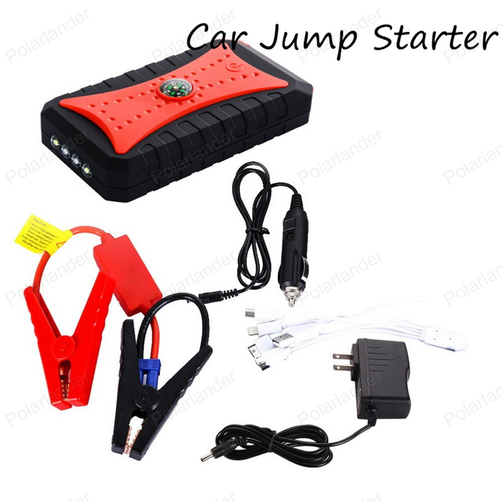 Car Jump Starter Power Bank Emergency Car Battery Booster Pack Vehicle Jump Starter Charger SOS Lights Free Ship  2017 high capacity 15000mah car jump starter portable 12v car battery booster charger mobile 2usb power bank sos light free ship
