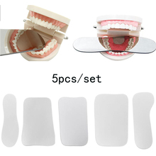 5pcs/set Dental Orthodontic Intraoral Photographic Reflector Mirror 2 Sided Glass Mirrors Dentistry Material Dentist Tools dental dentist oral clinic 4in1 orthodontic intraoral stainless steel photographic mirror reflector