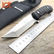 LDT Fixed Blade Knife 7Cr13Mov Blade G10 Handle Hunting Outdoor Pocket Knives Survival Tactical Camping Rescue Knife EDC Tools