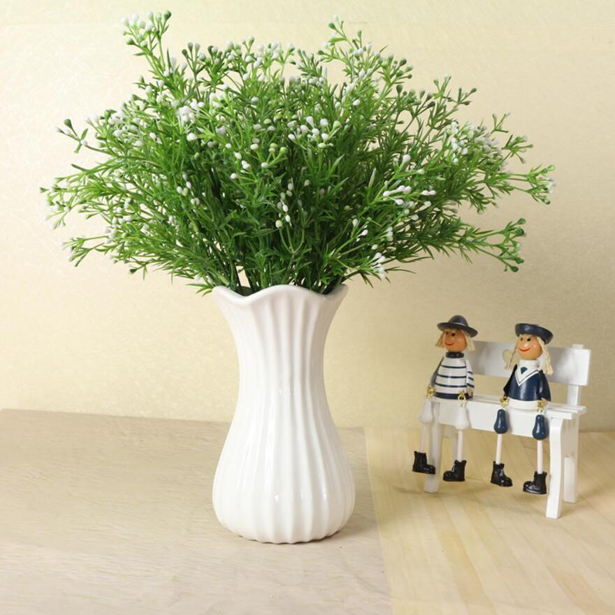 6pcs Artificial Artemisia argyi Branch Greenery For Plant Wall Background Wedding Party Home Hotal Office Bar Decorative