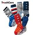 6 par/lote niña Bebé hasta la rodilla calcetines de color caramelo jacquard antideslizante calcetines de bebé