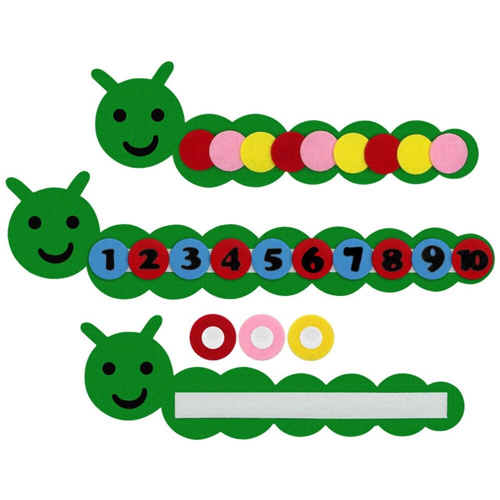 Digital DIY Weave Cloth Educational Toys Caterpillar Recognize Colour Montessori Toys For Children Kindergarten Baby Aid Tool