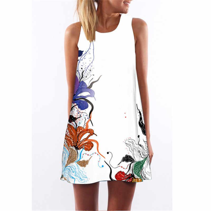 MEIBONA модное летнее платье без рукавов с цветочным принтом, ретро платье, женская пляжная одежда, сарафан, повседневное свободное праздничное платье Vestidos
