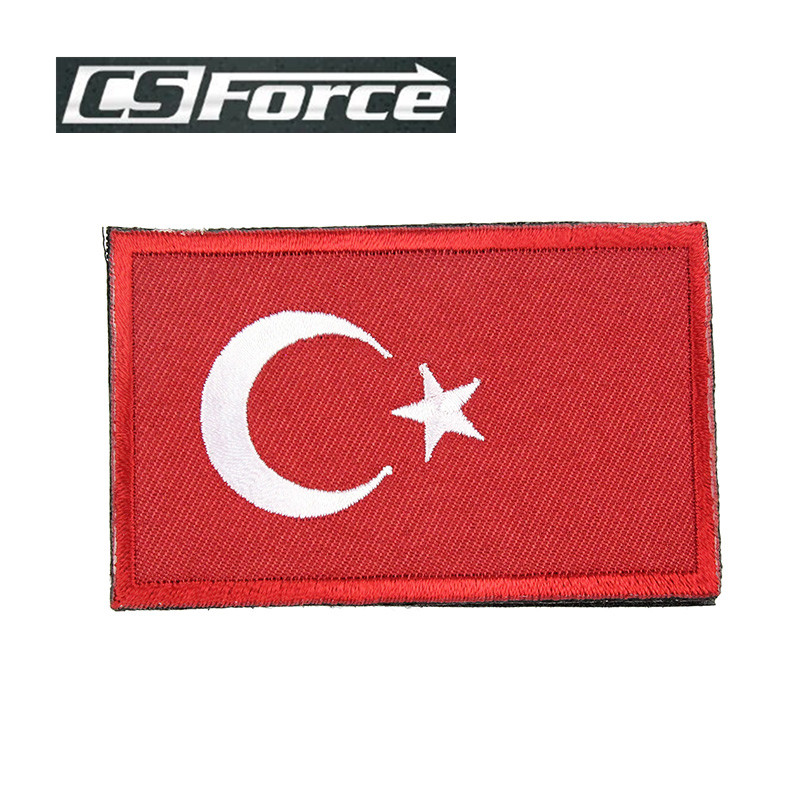 83*50mm Embroidered Badge Military Tactical Backpack Caps Badges Flag Of Turkey Patches Airsoft Hunting Fabric Armband Stickers