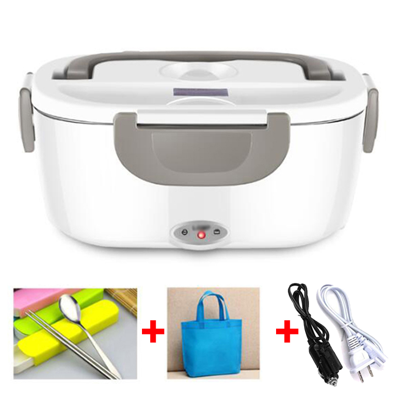 12V 24V 220V Stainless Steel Electric Bento Lunch Box Weated Warm Car Thermal Lunchbox Portable Food Container Office School Kid