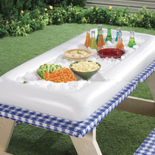 Inflatable table Serving for BBQ Bar party Buffet Ice Cooler Picnic Table Salad dish Drink plat garden Camping storage Outdoor