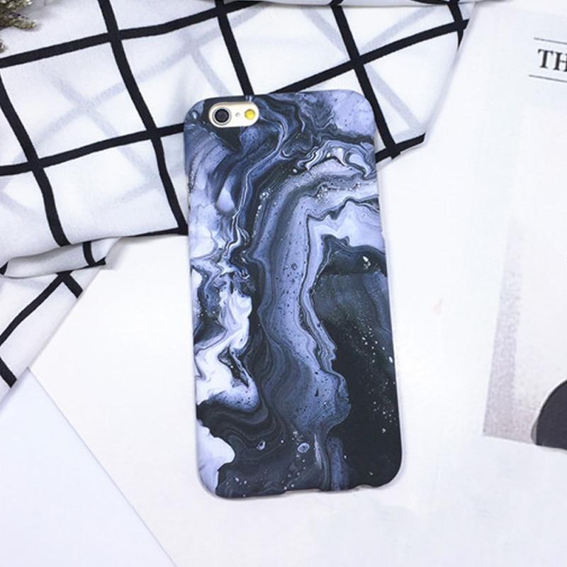 LACK Mode Lyxig marmorsten telefonfodral för iphone 6 fodral för - Reservdelar och tillbehör för mobiltelefoner - Foto 4