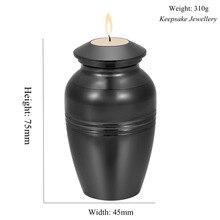 En memoria del amante de la pérdida Mini urna de cremación grabable candelabro de ceremonia guardar cenizas recuerdo joyería de cremación de acero inoxidable