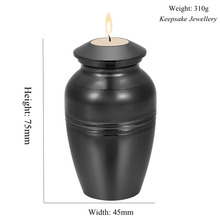 In Memoria di Perdita di Lover Mini Cremazione Urna Incisione Funeral Candeliere Tenere Ceneri Ricordo In Acciaio Inox Cremazione Gioielli