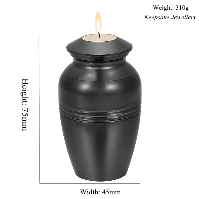 In Memory of Loss Lover Mini Cremation Urn Engravable Funeral Candlestick Hold Ashes Keepsake Stainless Steel Cremation Jewelry