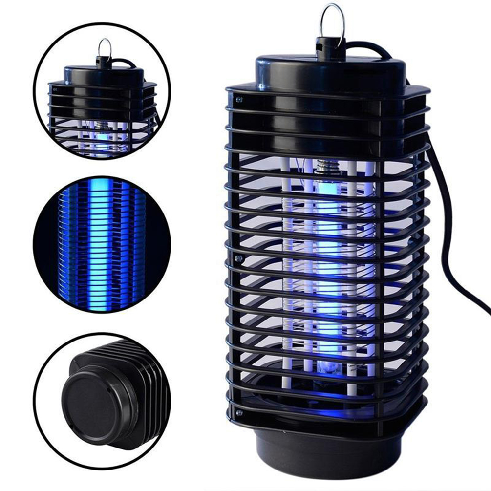 LEDGLE 3W Mosquito Repellent Lamp Effective Physical Insect Killer Mosquito Trap and Killer, Black