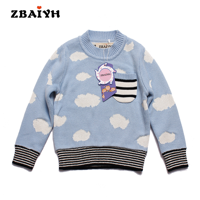 3cd632dbc 2017 Children Sweaters For Girl Boys Cardigan Thick Cloude Stripes ...