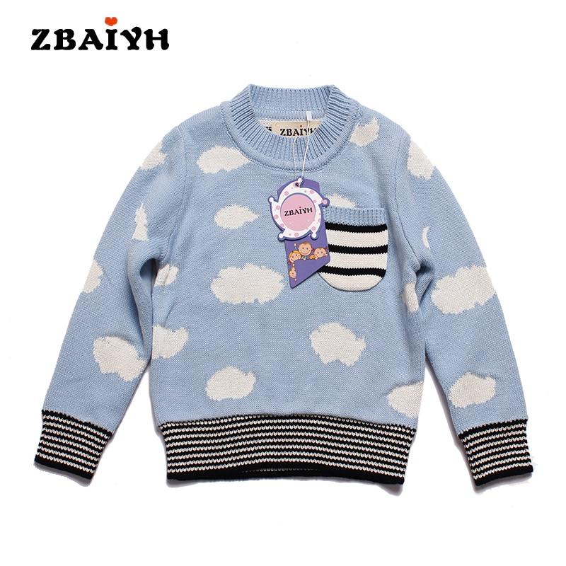 2017 Suéteres de Los Niños Para la Muchacha Muchachos de la Rebeca Gruesa  Cloude Stripes Vintage Bobo Choses Niños Jerseys para Bebés Jumpers Invierno  Otoño df451ae623a1