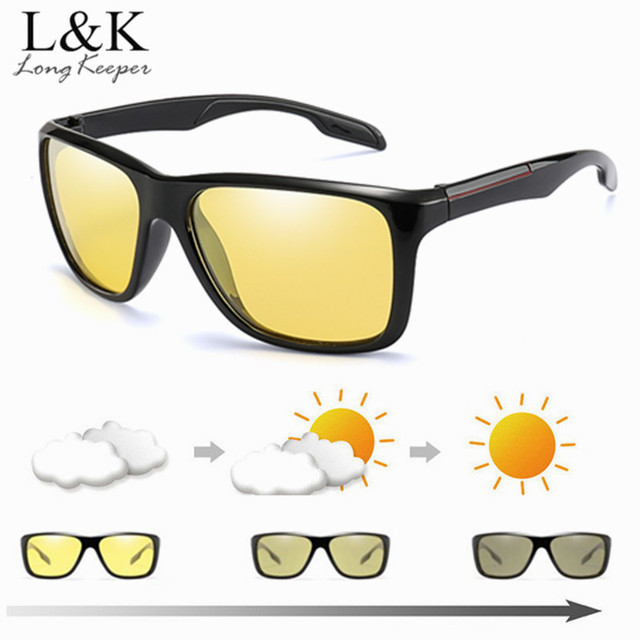 4892c8fa20a 2018 Brand Photochromic Sunglasses Men Women Polarized Night Vision  Chameleon Discoloration Sun Glasses Driving Accessories