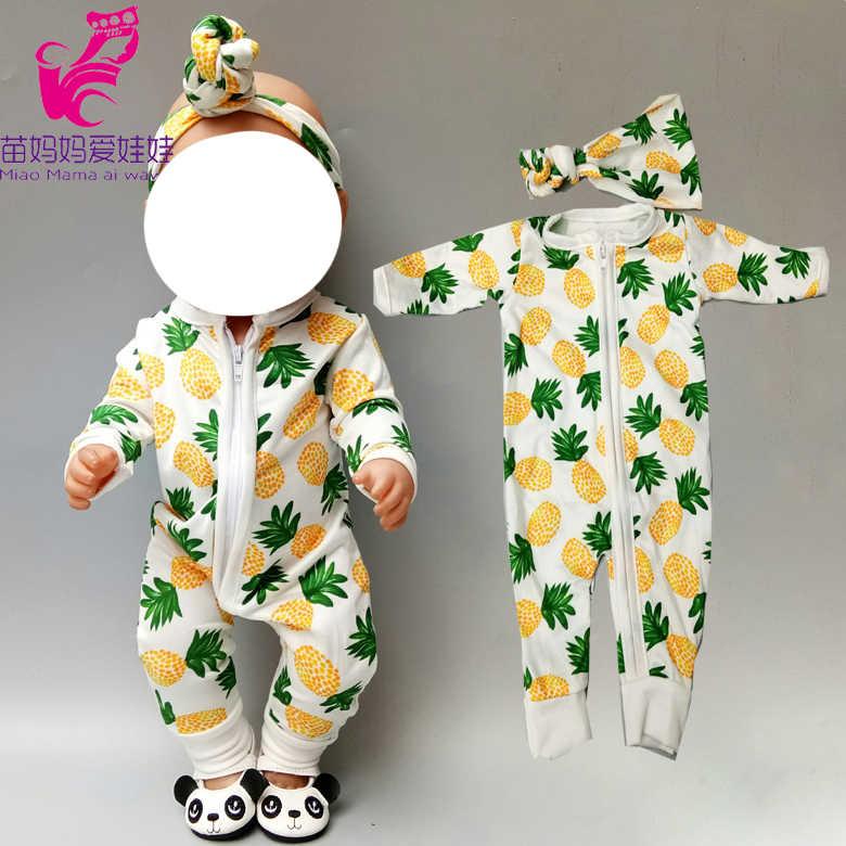 43 centímetros Boneca de roupas de bebê conjunto de pijama macacão baby doll para 18 polegada 45 centímetros bonecas roupas macacão