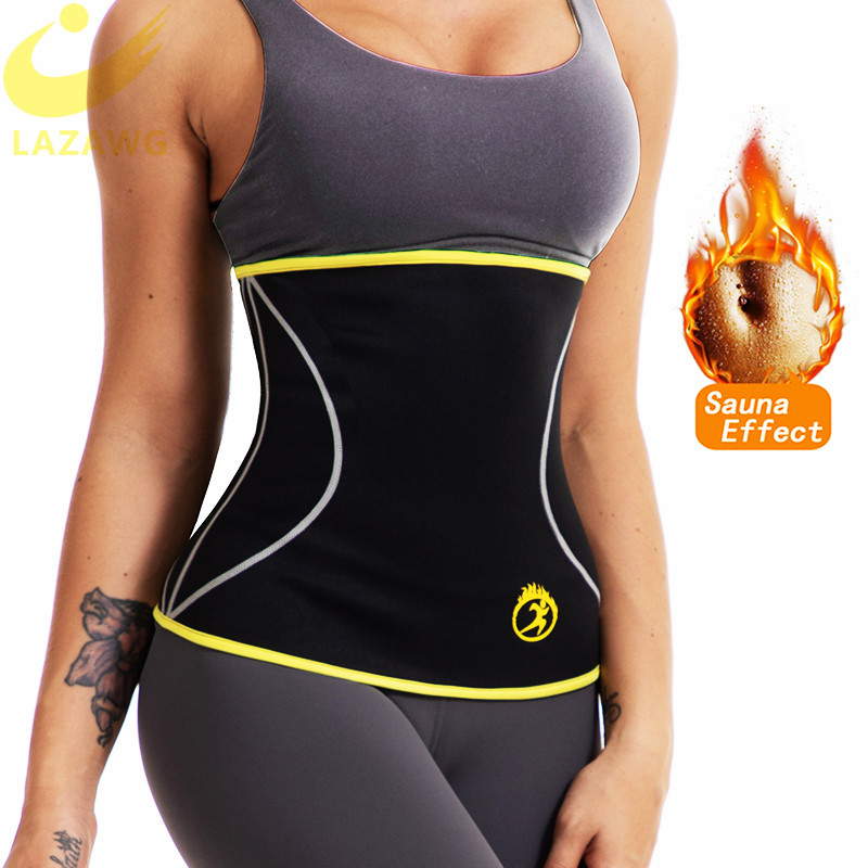 LAZAWG Women Waist Trainer Hot Neoprene Belt Sauna Sweat Cincher Slimming Strap Body Shaper Tummy Control Fajas Fat Burn Corset