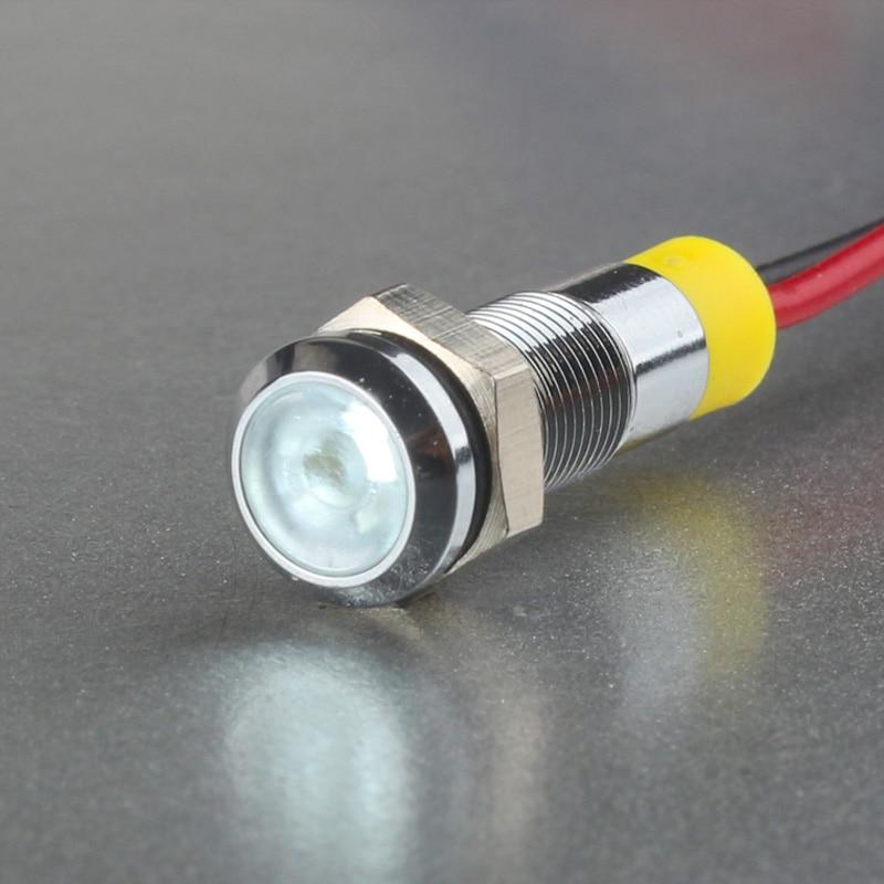 3 Pièces DEL Signal Lampe Éclairage Signal Voyant 5 V 12 V 24 V 8,2 mm 022