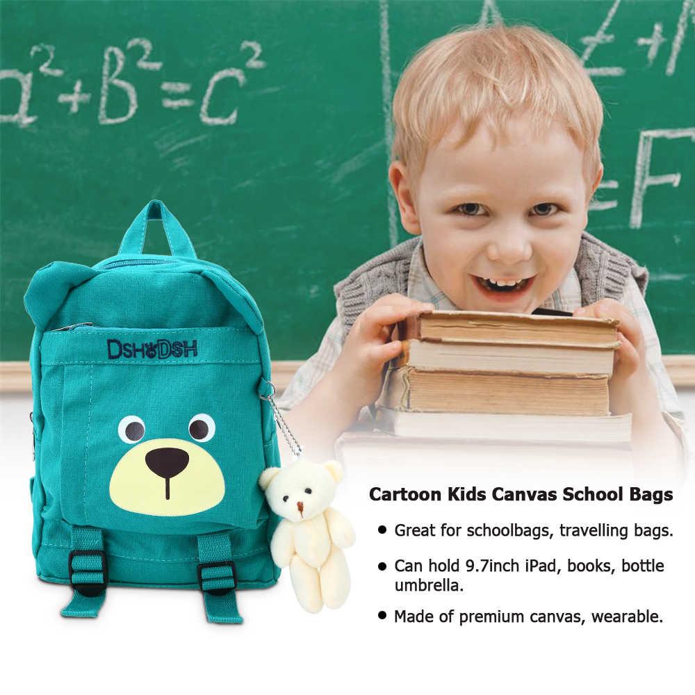 Miúdos bonitos Sacos de Lona Mochila Crianças do jardim de Infância Da Escola Primária Mochilas Dos Desenhos Animados do Urso de Pelúcia Brinquedos 5 Cores Optioanl