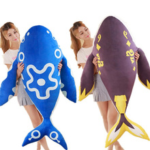 Fancytrader Large 160cm Cute Animal Fish Plush Toy Stuffed Giant Anime 63inches Cartoon Carp Pillow Doll Baby Birthday Gift