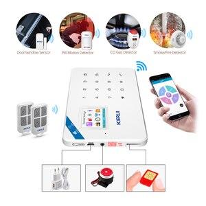 Image 2 - KERUI Motion Detector Door Detector Alarm Siren Alarm System TFT Color Screen W18 WIFI GSM Home Burglar Alarm System APP Control