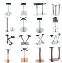 Stainless steel board feet. Western restaurant table leg.
