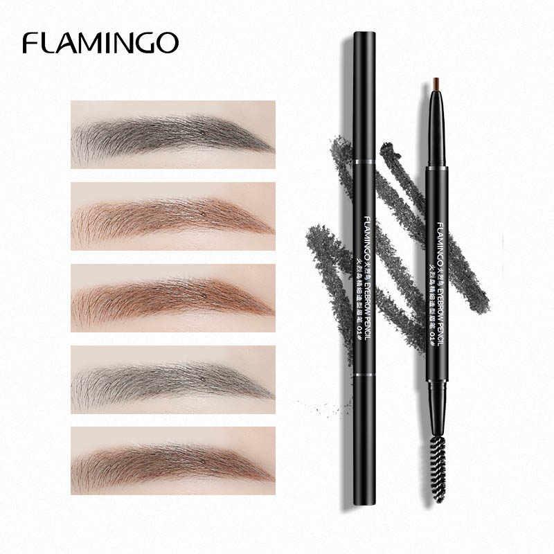 Flamingo marca olho sobrancelha matiz cosméticos natural tinta longa duração tatuagem sobrancelha à prova dwaterproof água preto marrom lápis de sobrancelha lmb1001
