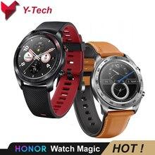 Huawei Honor นาฬิกา Magic สมาร์ทนาฬิกา NFC GPS 5ATM กันน้ำ Heart Rate Tracker Sleep Tracker ทำงาน 7 วันเตือนข้อความ