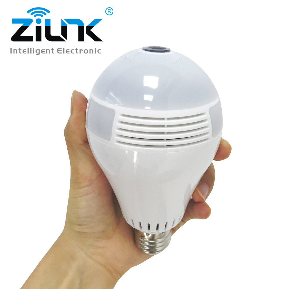 Bulb Light Wireless IP Camera 960P FishEye 360 degree Panoramic VR Camera 1.3MP Home Security Lamp Wifi Camera