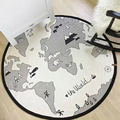 Новое поступление карта мира круглый ребенка ползать коврик дети играют дети коврик для ребенка интеллект развития образования обучающие игрушки