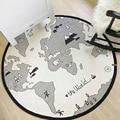 Chegada nova mapa mundi rodada bebê engatinhando tapete esteira do jogo para o desenvolvimento da inteligência da criança das crianças dos miúdos como educação aprendizagem brinquedos