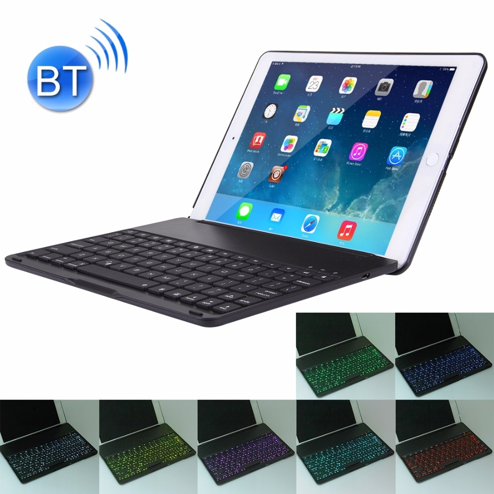 2 in 1 For iPad Air 2 Foldable Adjustable (0 - 135 Degrees) Aluminium Alloy Tablet Protective Case Holder + Bluetooth Keyboard