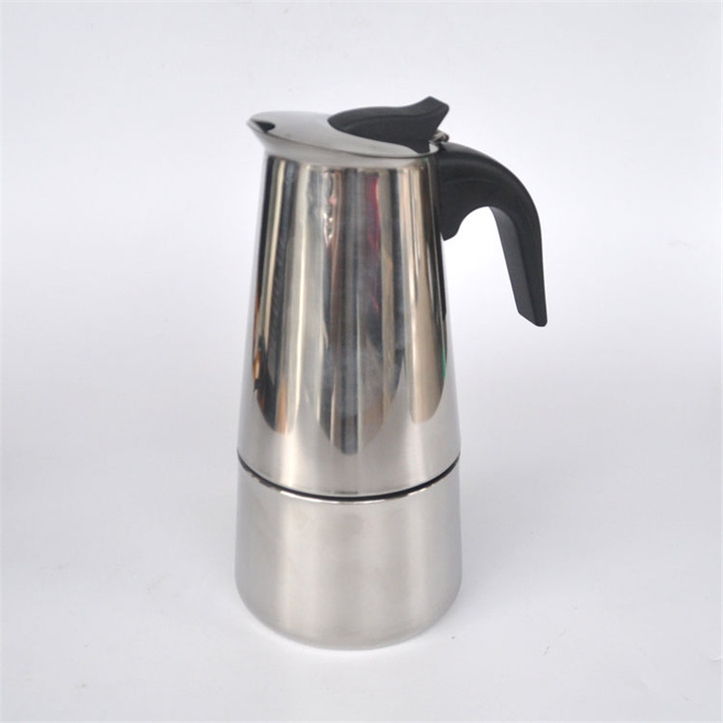 4 cups stainless steel Moka / home office coffee pot / mocha coffee pot / filter / filter coffee maker B1-400