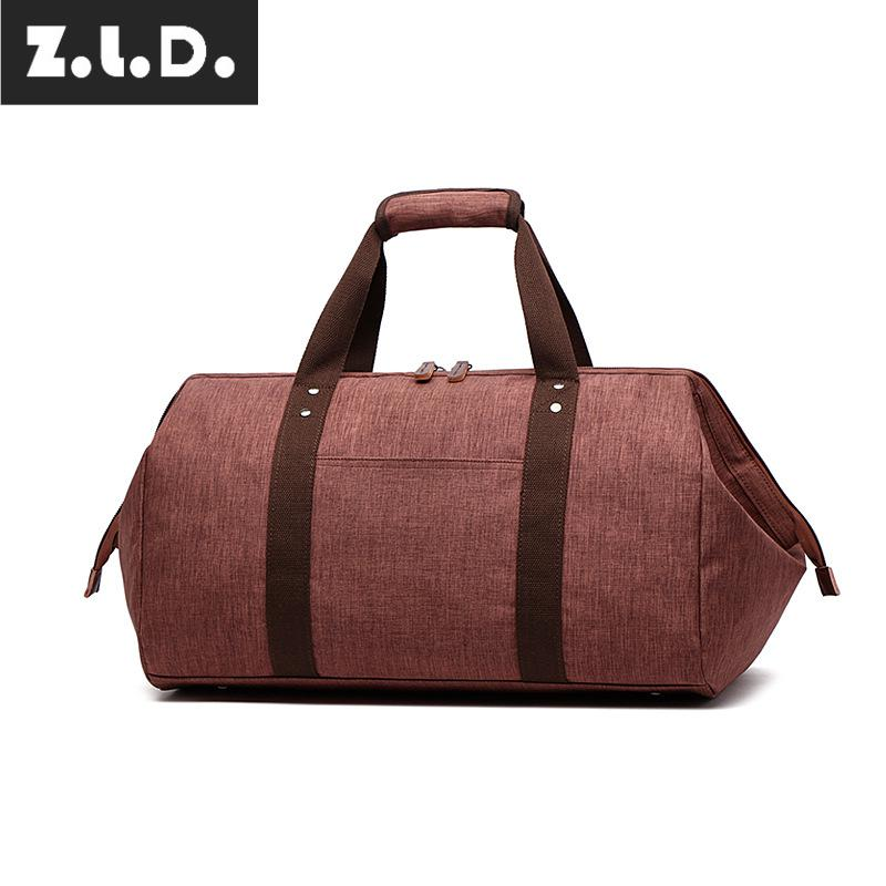 Z.L.D. Mens and Womens Travel Bags Duffle Bags Casual Canvas Bags Large Weekend Bags Large Capacity Night