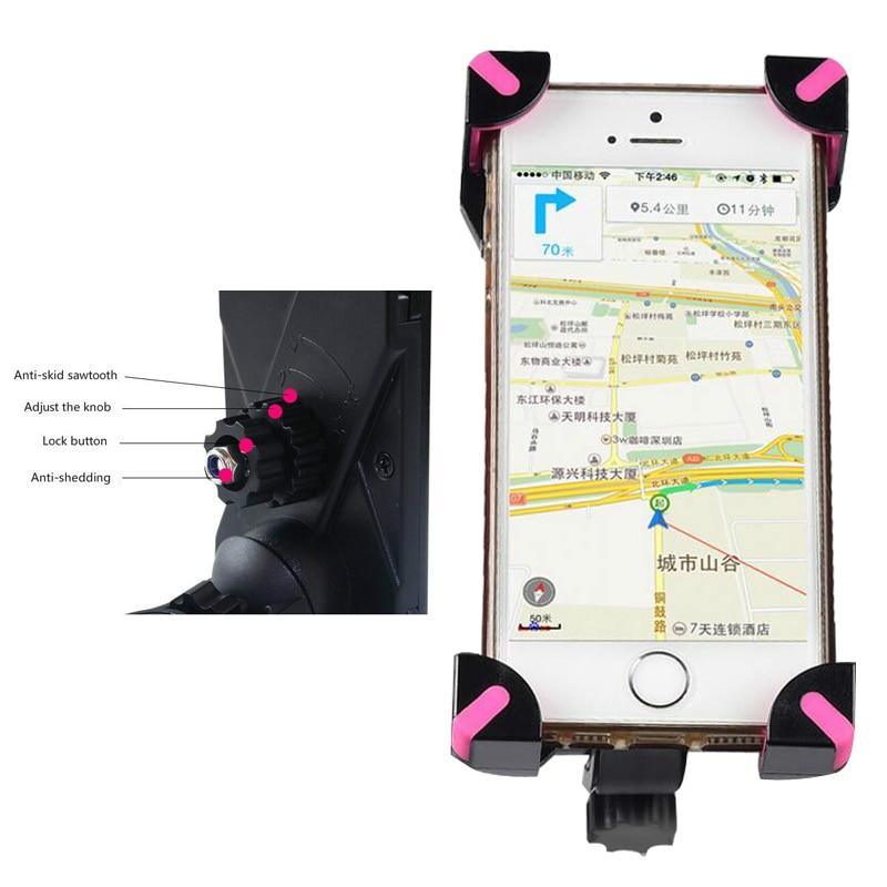 Motorcykel telefonhållare bakre spegel för Moto mobil support för - Reservdelar och tillbehör för mobiltelefoner - Foto 5