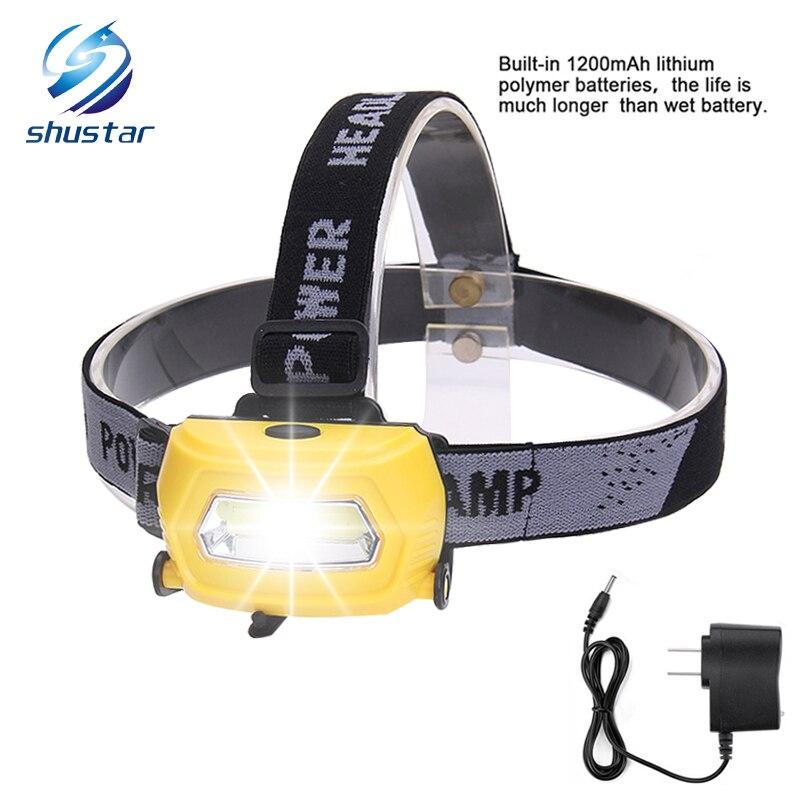 Execução Faróis Faróis LED Recarregável USB CREE 5 W Farol Perfeito para Pesca Caminhadas Camping Reading Caminhadas