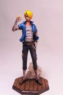 Anime One Piece Figure Diable Jambe Sanji POP Figure 230MM Battle Damaged Version PVC Action Figure Toy Collection Model Gift ...
