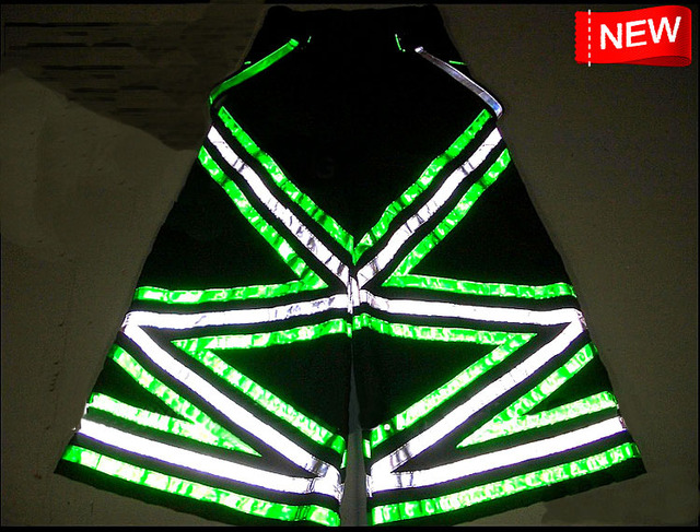 f935df3dce294 Triangle Melbourne Shuffle Pants Fluoreszierend DJ PHAT Pants Raver ore  Techno Hardstyle Tanz Hose Reflective Trousers NEW-in Wide Leg Pants from  ...