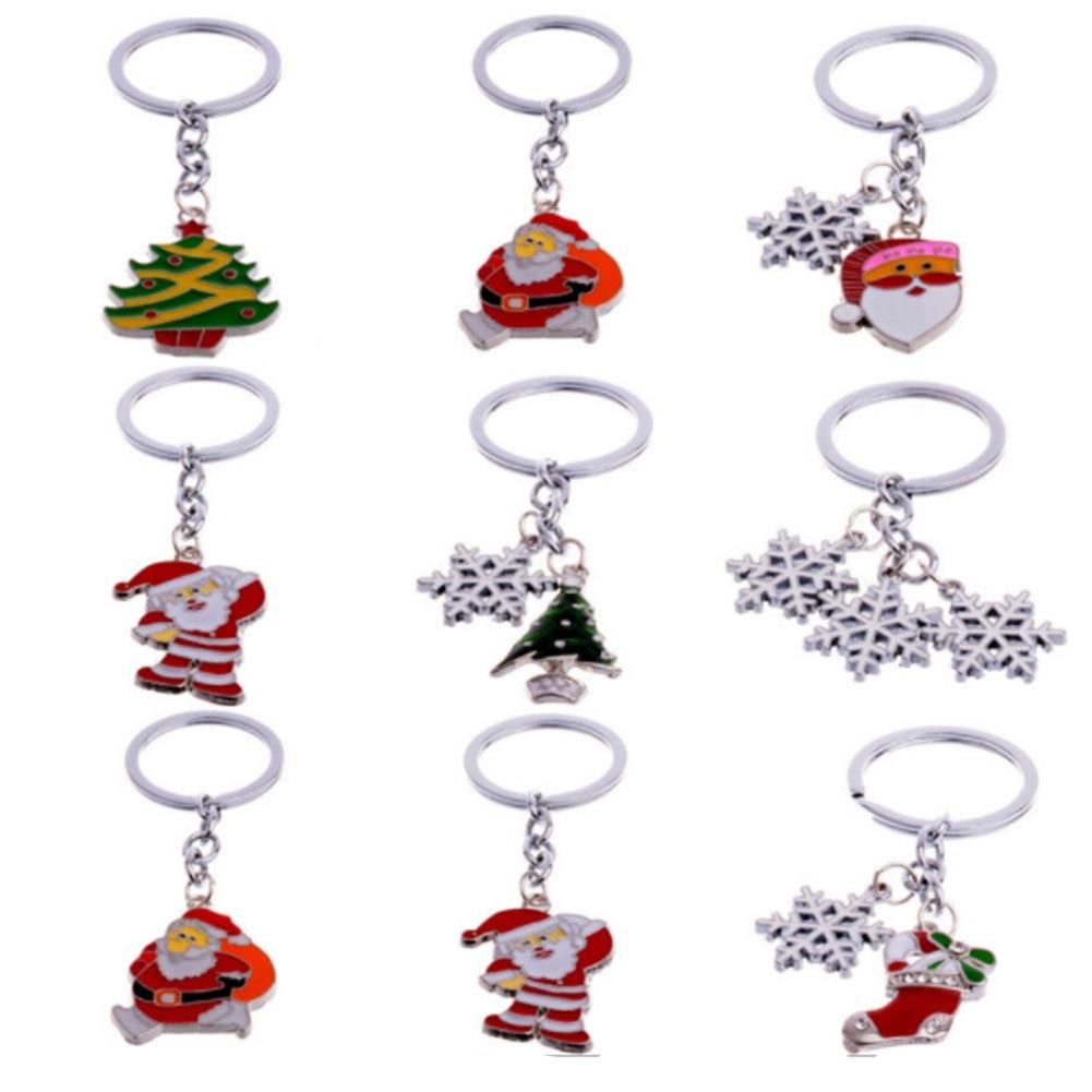 New Fashion Rhinestone Santa Key Chain Charms Keyring ...