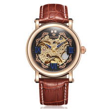 2019 Royal Diamond Design Men Watches OUYAWEI Top Brand Luxury Black Gold Clock Relogio Male Creative Skeleton Mechanical Watch