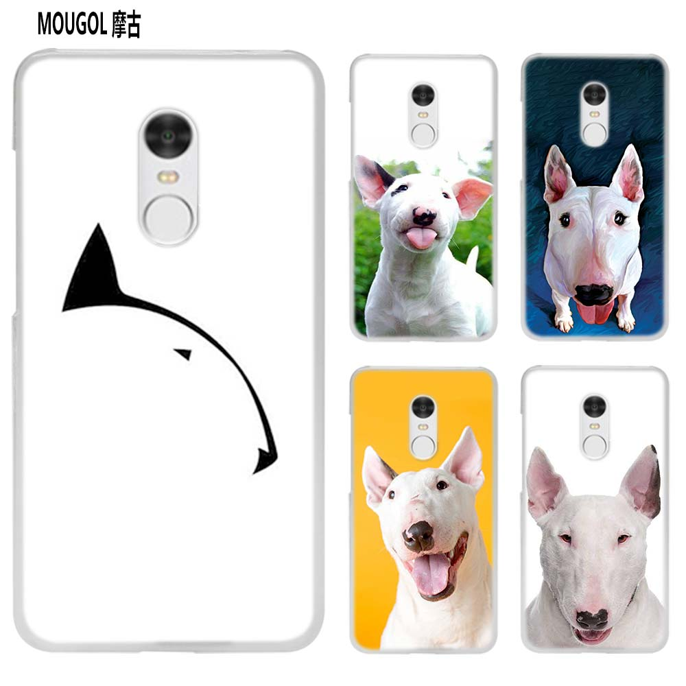 MOUGOL Bullterrier bull terrier transparent Case Cover Shell for Xiaomi Redmi Note MI A1 ...