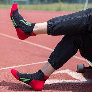 Image 4 - 2020 marca nova meias esportivas dos homens terry algodão tornozelo meia masculina moda colorida de alta qualidade meias homens skate venda quente