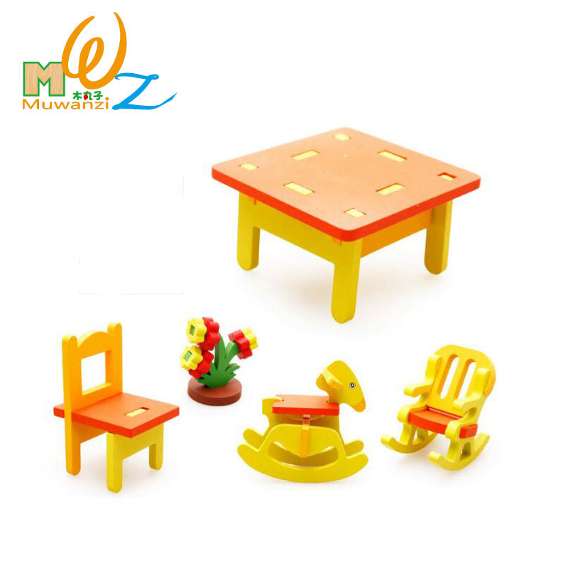 MWZ 3D Wooden Kindergarten Chairs Table Set Children Educational ...