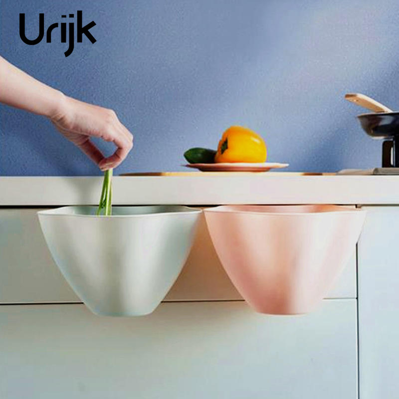 Urijk Hanging Boxes Cupboard Garbage Cans Desktop Rubbish Kitchen Organize Container Debris Trash Bins Storage Boxes