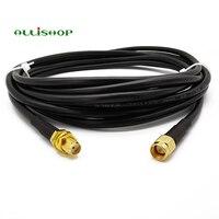 1-30 метров низкой потери удлинитель антенна кабель RG58 SMA мужской SMA для женщин соединитель коаксиальный косичка для LTE 3g 4G LTE Ham ADS-B