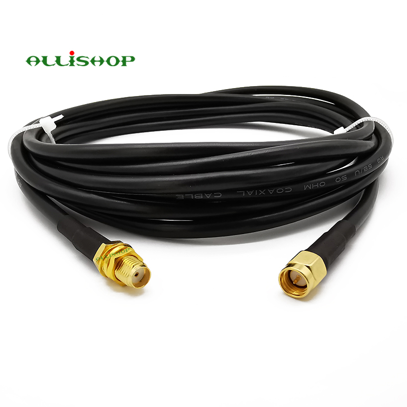 1-30 Meters Low Loss Extension Antenna Cable RG58 SMA Male To SMA Female Connector Coaxial Pigtail For LTE 3G 4G LTE Ham ADS-B